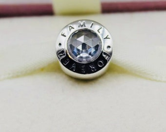 Genuine Family Forever CZ Charm /Fully Stamped