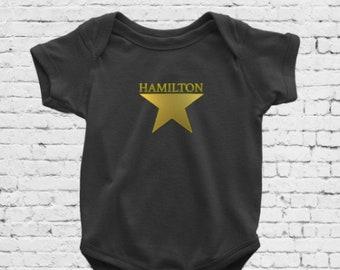 Hamilton gold star baby bodysuit
