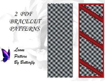 2 Loom Patterns BT-032 -  houndstooth