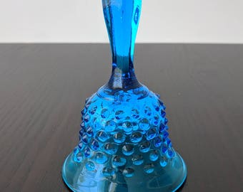 Vintage Blue Glass Bell