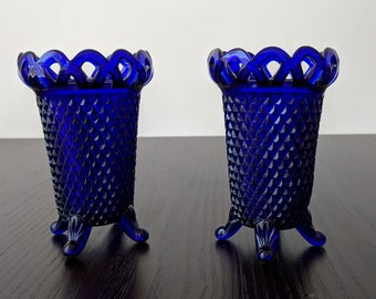 Two Vintage Cobalt blue vases