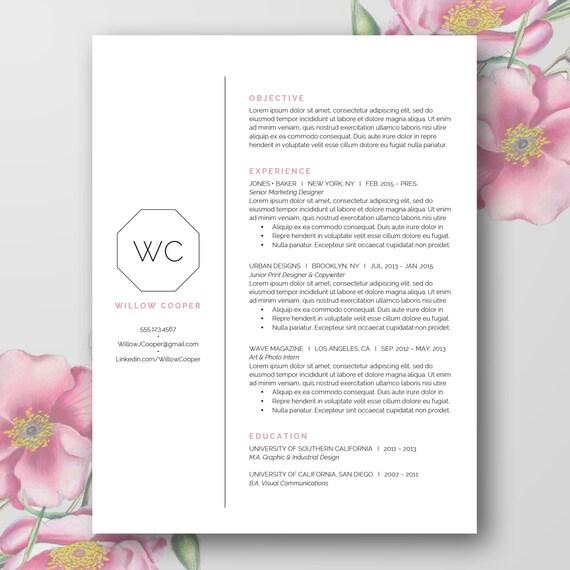 Beautiful Simple Resume Template (Word Doc)