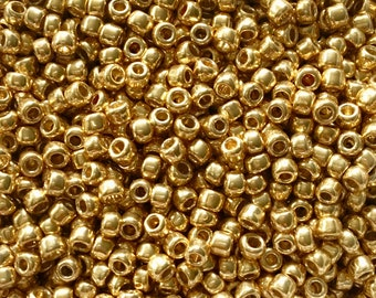 TOHO Seed Beads- 80 Seed Beads Qty 8 grams approx 3mm Seed Beads Bronze,Terra Cotta 350 beads,Topaz jewelry supplies