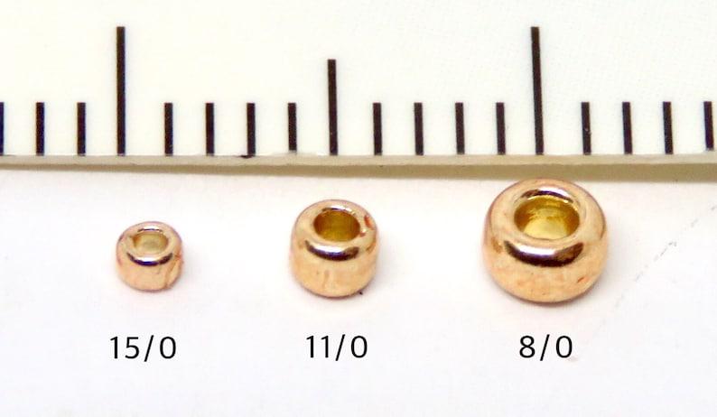 T703 Craft supplies 20 grams Copper Mauve Mocha Matte Toho Japanese Round Seed Beads 110