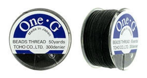 Black Nylon Size FF Beading Thread #CDS028