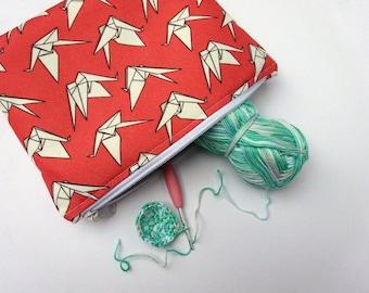Origami Zipper Pouch – Water Resistant Makeup Bag, Project Bag, Cosmetics Bag, Makeup Organiser, Makeup Pouch, Makeup Case, Travel Gift