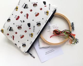 Zipper Pouch – Water Resistant Makeup Bag, Project Bag, Cosmetics Bag, Makeup Organiser, Makeup Pouch, Makeup Case, Travel Gift