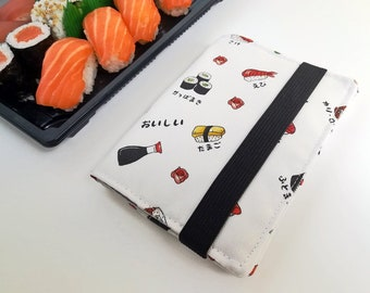 Sushi Passport Cover - Poly Outdoor Fabric, Water Resistant, Passport Holder, Passport Bag, Passport Wallet, Travel Accessories, Travel Gift