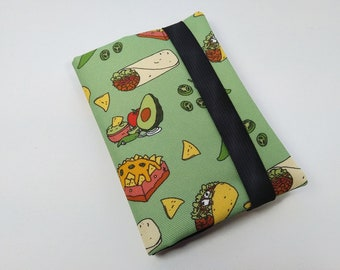 Taco Passport Cover - Poly Outdoor Fabric, Water Resistant, Passport Holder, Passport Bag, Passport Wallet, Travel Accessories, Travel Gift
