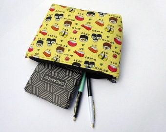 Sushi Zipper Pouch – Water Resistant Makeup Bag, Project Bag, Cosmetics Bag, Makeup Organiser, Makeup Pouch, Makeup Case, Travel Gift
