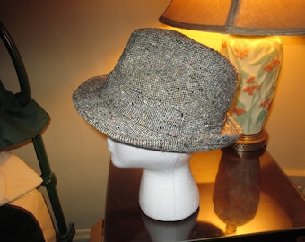 25b2261a3cb Very Nice Vintage Stetson Tweed Fedora Hat ~ Size 7 ~ Made in USA