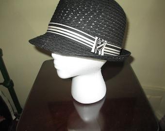 Very Nice Vintage Daniel Cremieux Straw Summer Fedora Hat ~ Size S M 6043b911f42f