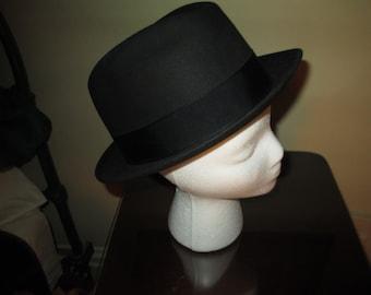 e35127bba02dba Vintage Champ Spaceweight Black Felt Hat ~ 7-1/4 ~ Nice Fedora Look ~ Great  Look!