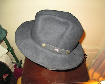 b936a0a045c Nice Vintage Bailey Fedora Style Ultra Lite Packer Black Hat Size XL   Made  USA