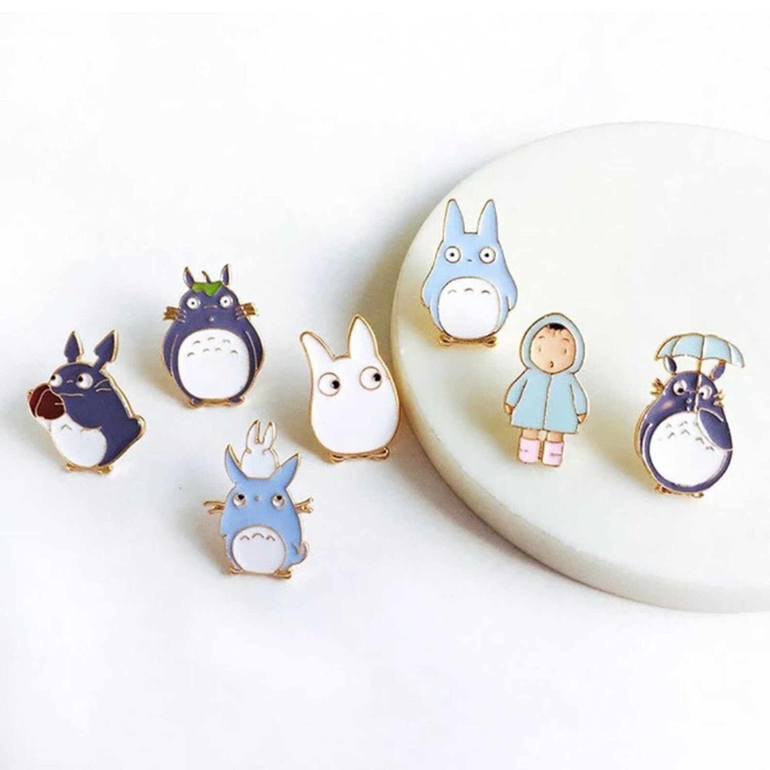 Totoro Pin Badge Set - Up to 7 Badges