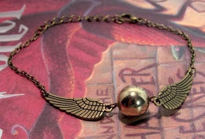 Harry Potter Golden Snitch Winged Bracelet image 2