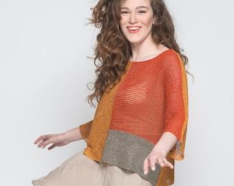 Knit Sweater, Women Summer Tops, Pullover Women, Pullover Sweater, Boho tops, Womens Knit Sweaters, Loose Top, Light Top, Summer Knit, Sheer