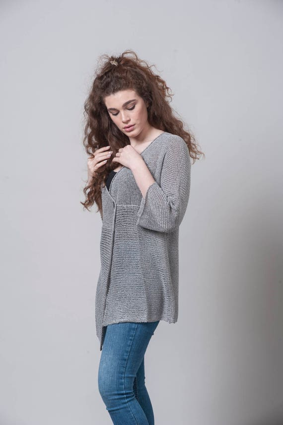 Boho Top Pullover Oversized Tops Top Loose Knit Spring Cardigan Top Knit Jacket Cardigan Cardigan Sweater Womens Clothing Long Knit UIp4RTq