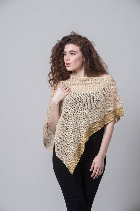 Crochet Top Poncho Fashion Boho Summer Knit Women Gold Top Poncho Boho Cape Wrap Knit Knit Poncho Knit Poncho Sweater Knit Poncho BnHxfqpw