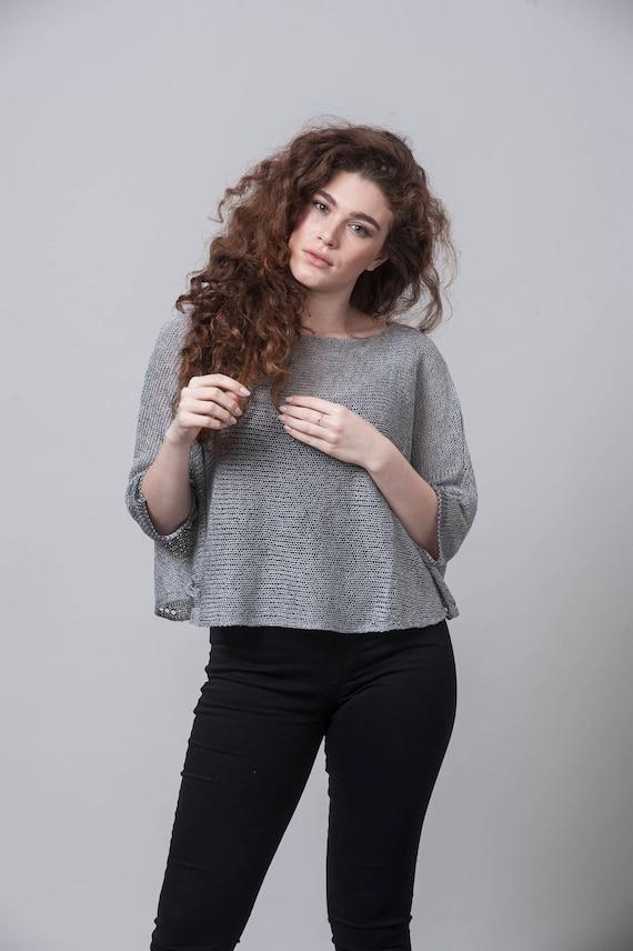 Knit Fashion, Women knitwear, Bohemian Clothing, Trendy Knit, Loose Top, Oversized Top, Knit Sweater, Casual Look, Oversized Sweater, Sheer