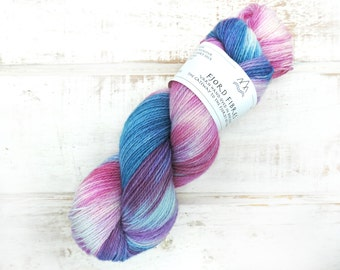 Jazz Blues - Sock yarn - Variegated Yarn -  Hand dyed yarn - Norwegian wool - wool polyester blend