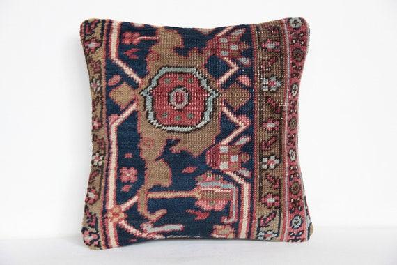 Celui d'un genre Pillow.Antique turque à la main tapis coussin couverture des motifs traditionnels tapis turc coussin couverture modern oreiller