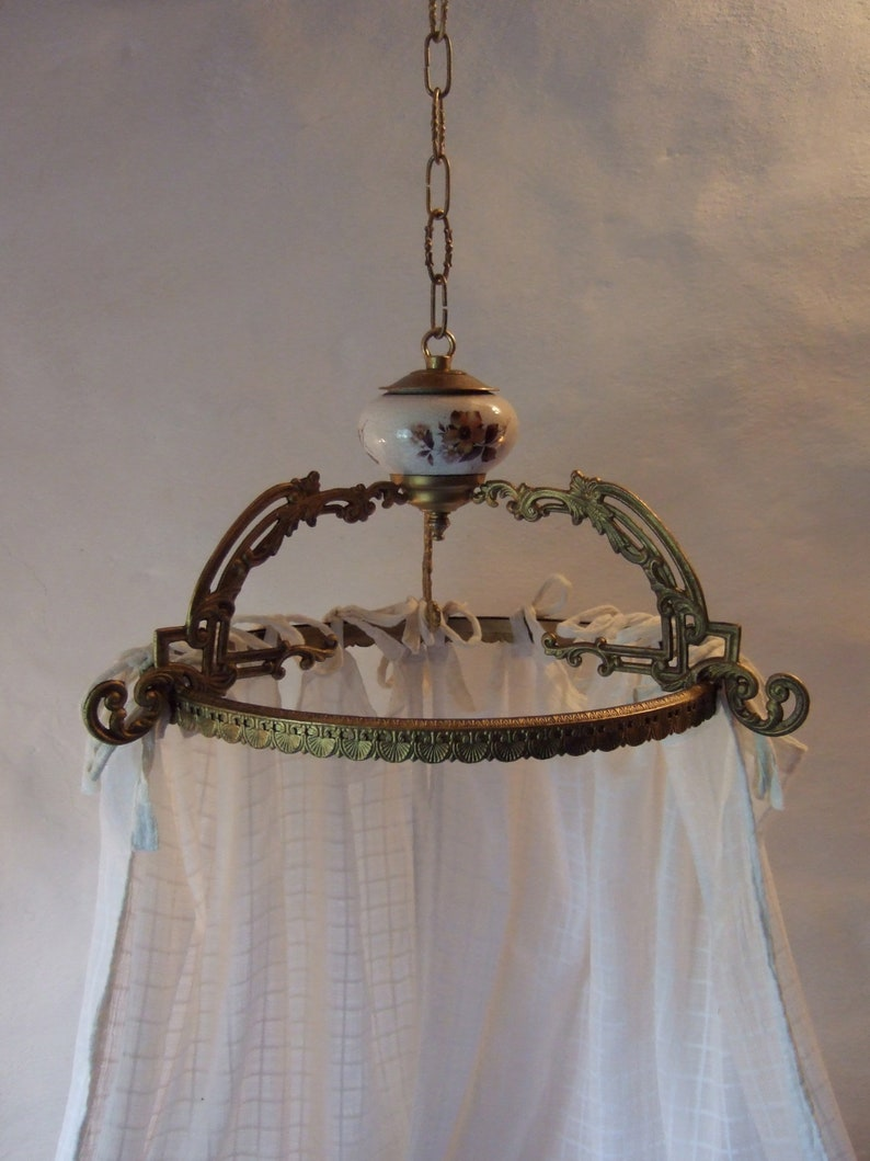 Interiors Ciel De Lit antique french large gilt bronze ciel de lit, bed canopy, couronne, crown,  pediment.