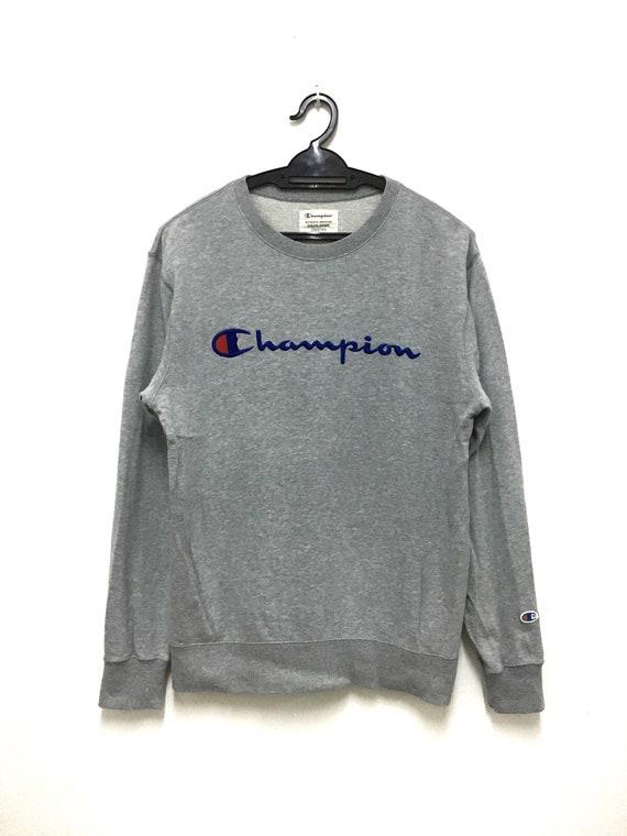 Rare Champion Sweatshirt Sweater Crewneck jumper pullover size m men long sleeve spellout