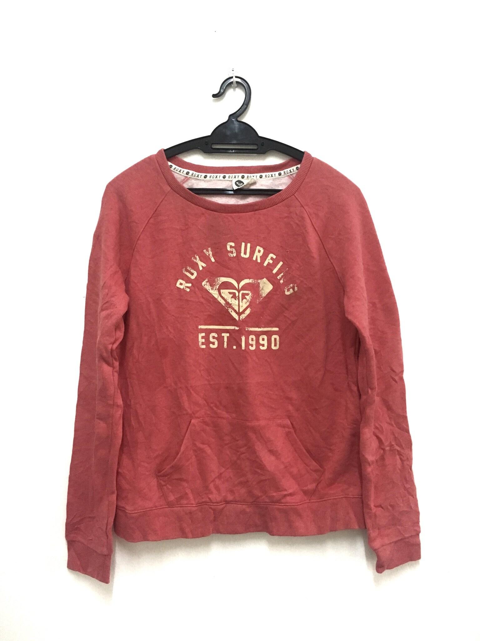 Roxy sweatshirt sweater jumper pullover size L women long sleeve surf
