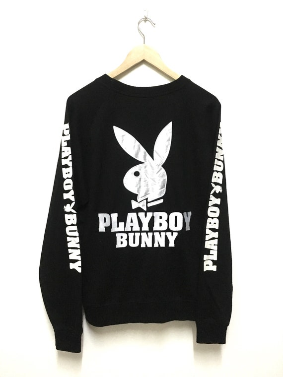 Playboy Bunny Sweatshirts Pullover Pulli Pullover Größe L großen Logo spellout