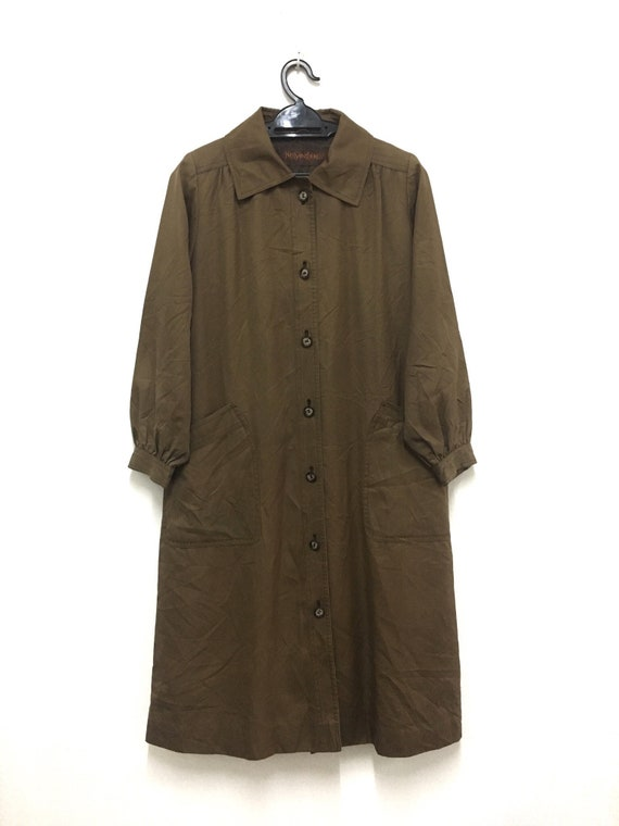 big sale in stock perfect quality Vintage Yves Saint Laurent Trench Coat Long Coat Casual