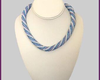 Amber ArtGlass Crocheted Collection Triple Spiral Design