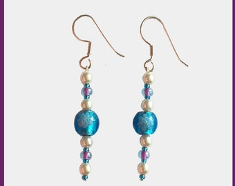 Amber ArtGlass Spring Earring Collection