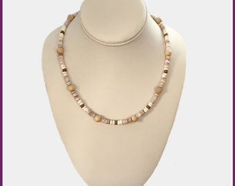 DLC Casual Earth-Toned Collection: Heishi Shells and Wooden Beads
