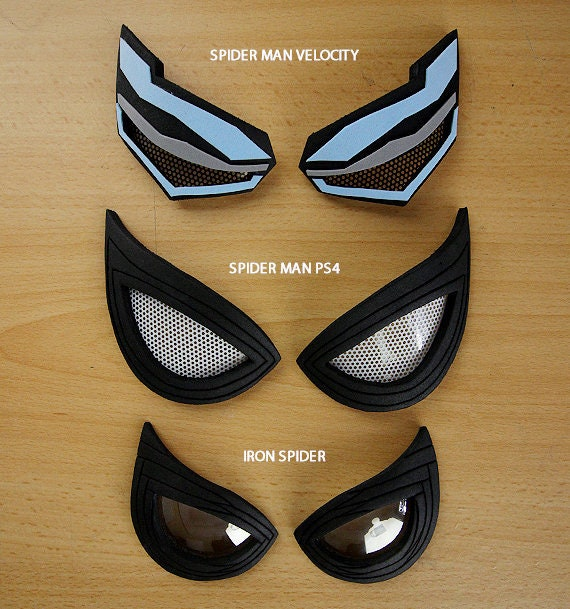 Lenses Eyes Spider Man Ps4 Spiderman Velocity Iron Spider
