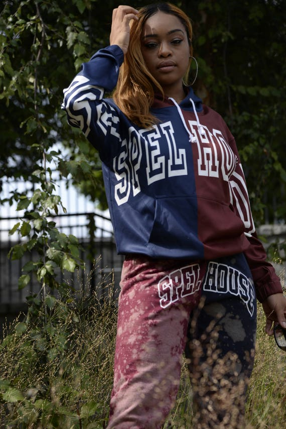 Spelhouse Unisex Dual Panel All Over Jersey Jacket with Hood V8fMDYMX