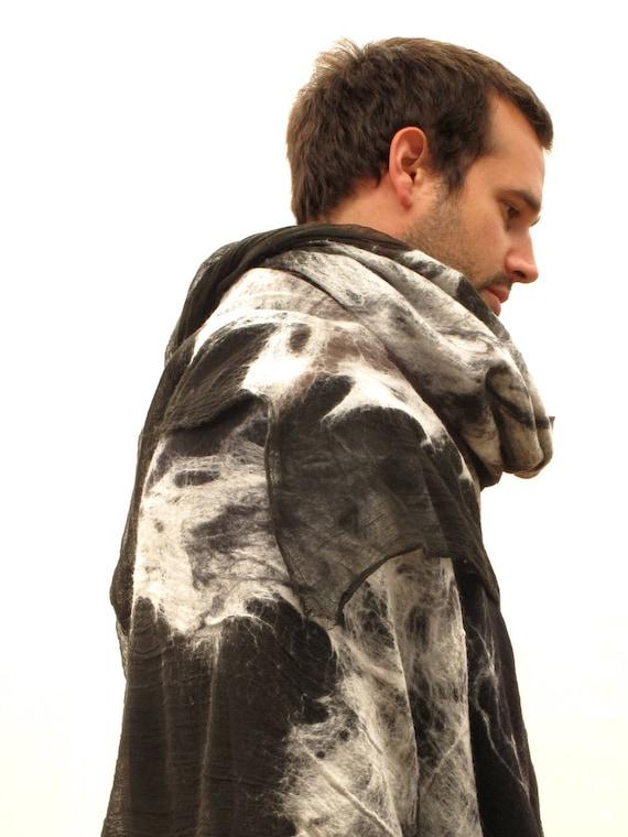 Mens poncho écharpe de Blanket écharpe pour homme marron   Etsy 0eb901c8dcc