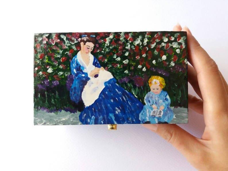Dipingere Portagioie Di Legno : Scatola portagioie in legno dipinta a mano ispirata a un etsy