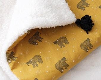 Oeko-tex/ Bears faux fur fleece blanket