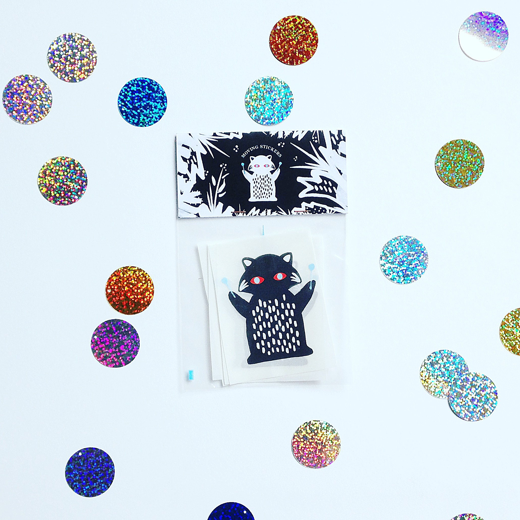 ANIMATED STICKERS PACK - 4 illustrated and animated stickers of ...