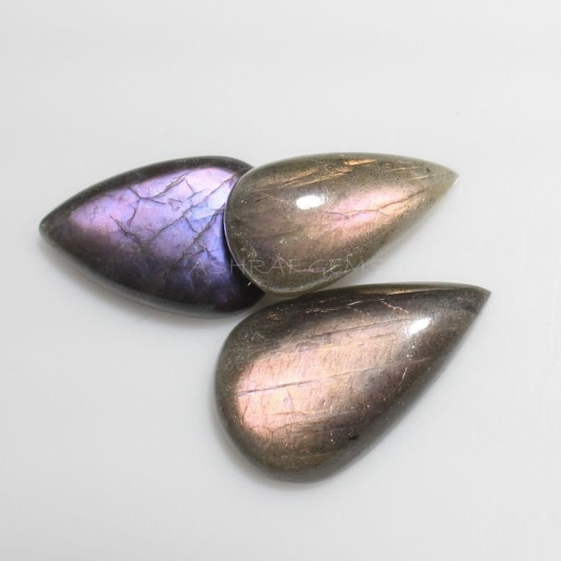 Purple Labradorite /'Deluxe/' Natural Mix Cabochon Gemstone Collection PL-300
