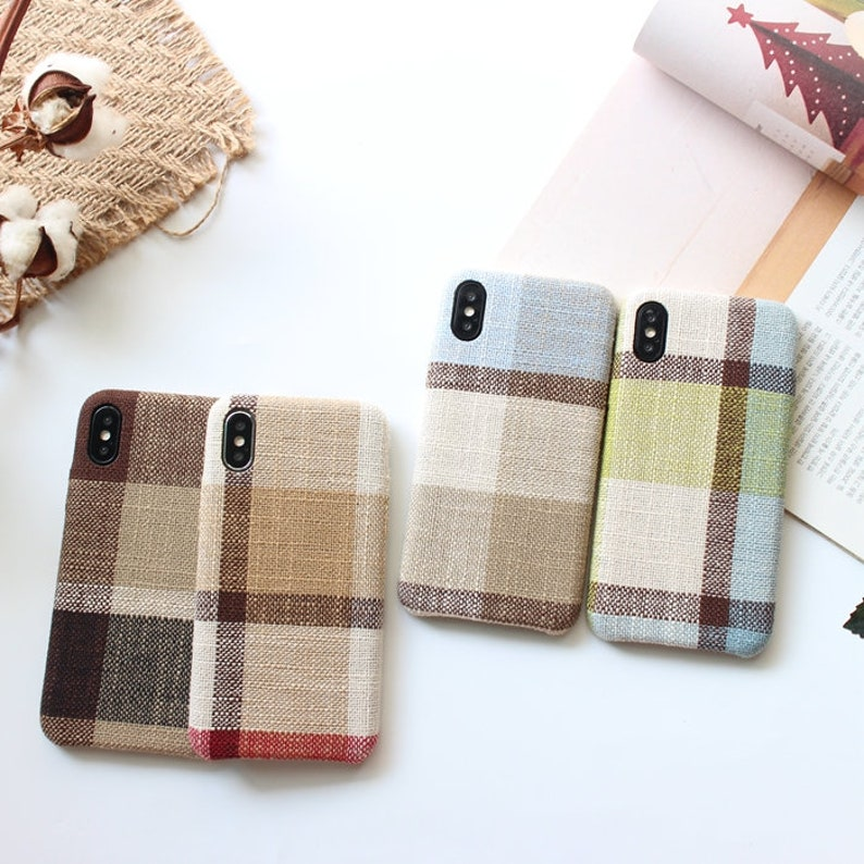 size 40 65dd9 9810f Chic Plaid iPhone Xs Max Case, Plaid iPhone xsmax case, Chrismas Gift,  Chrismas iPhone Case, Korean iPhone case,Coffee iPhone Max Case