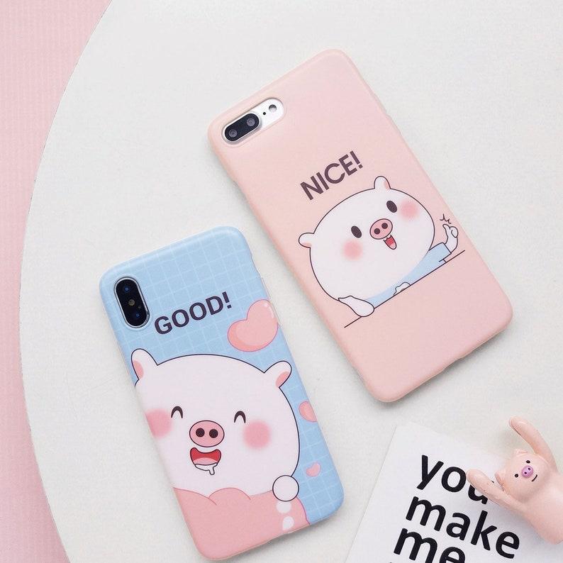 best authentic 2061d 46805 Kawaii Pig iPhone XS Max Case,Blue iPhone Case, Pink Pig Phone Case, iPhone  Xs Max, Apple Phone Case,Phone case for Winter