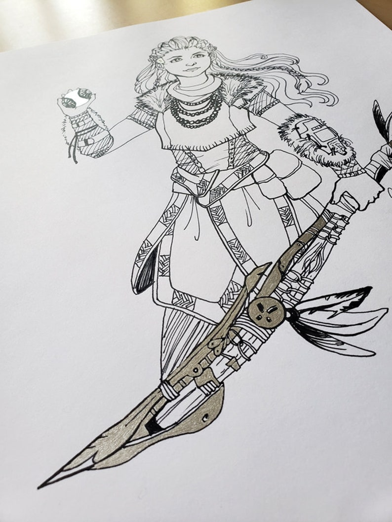 Aloy Ink Drawing