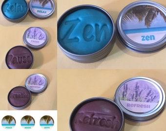 Lavender essential oil dough, choose word for imprint & label