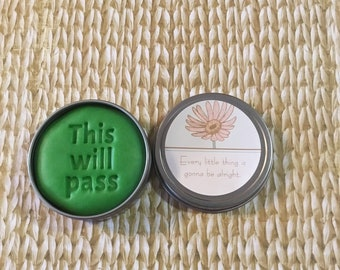 Mint Stress Relief Dough, Encouragement gift, gift for friend, self care, anxiety, cheer up gift, thinking of you, aromatherapy