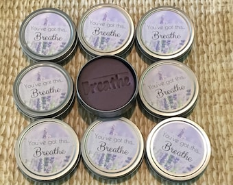 10 Lavender & eucalyptus essential oil aromatherapy dough: bulk Thank you gift, friend co-worker, stress relief gifts, breathe