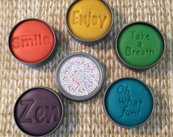 Colorful F word mandala, hand lettered, cuss word, mature gift, funny F word gift for adults, stress relief dough, friend gift, self care