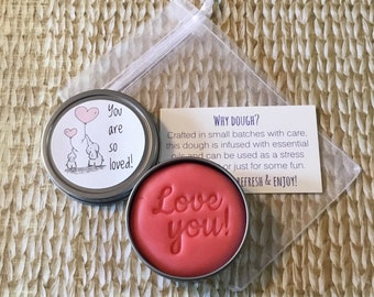 Grapefruit essential oil, Stress relief dough, Anxiety relief, stress ball, fidget, mental health break, relaxing, small gift, anxiety