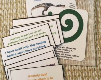 Anxiety lies! affirmation cards set.